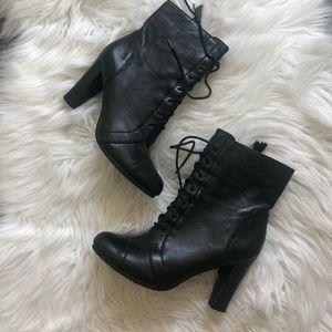 Ann Taylor Loft witchy black lace up boots 6 nwot